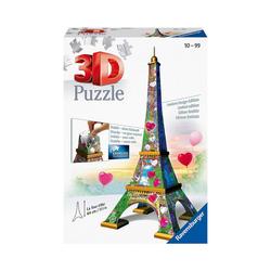 Ravensburger 3D-Puzzle 3D-Puzzle Eiffelturm Love Edition, 216 Teile, Puzzleteile