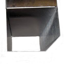 Airbrush-City Briefkasten Briefkasten aus Edelstahl mit 3 langen Sichtfenstern und Zeitungsrolle Modell 918