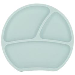 Kindsgut Kindergeschirr-Set (1-tlg), Silikon, Teller, Saug-Geschirr, aquamarin, geprüft, BPA-frei, umweltfreundlich, rutschfest, für Babys und Kleinkinder blau