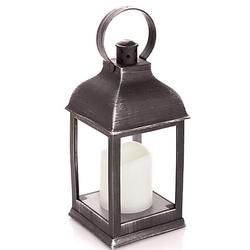 LED Outdoor Laterne mit Kerze, 22,5 cm