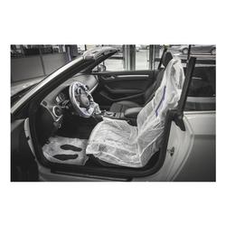 5-tlg. Schutz-Set für Autoschonbezüge - 200 Sets weiß, EICHNER, 80x150 cm