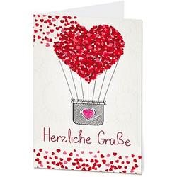 LUMA Glückwunschkarte Herzliche Grüße DIN B6