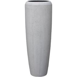 GILDE Dekovase Bigio, betongrau (1 Stück), Bodenvase, Beton-Optik, handgefertigt, In- und Outdoor geeignet 34 cm x 97 cm
