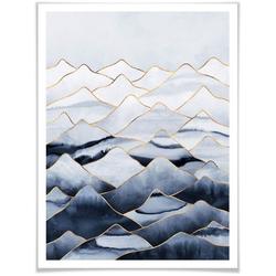 Wall-Art Poster Die Berge, Berge (1 Stück) 30 cm x 40 cm x 0,1 cm