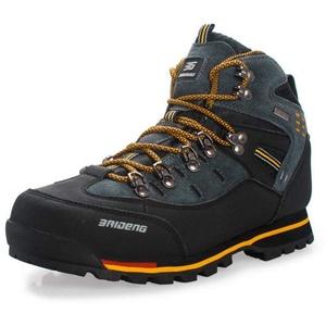 Showlovein wasserdichte Leder Outdoor Wanderschuhe Herbst Winter Herren Sport Trekking Bergsteigen Stiefel (43 EU, Orange)