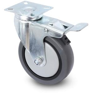 Lenkrolle mit Bremse - Apparaterolle mit Anschraubplatte/Transportrolle/Laufrolle von PRIOstahl (50 mm)