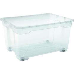 Aufbewahrungsbox mit Rollen 140 Liter Transparent