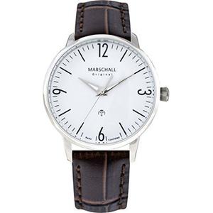 Herren-Funkarmbanduhr analog Quarz Clasico Acero Blanc