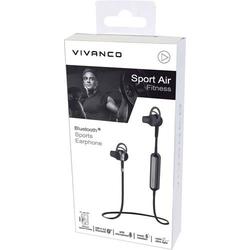 Vivanco SPORT AIR FITNESS Bluetooth® Sport In Ear Stereo-Headset Schweißresistent Schwarz