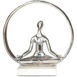 GILDE Dekofigur Giilde Alu Yoga Figur im Ring