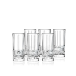 Lyngby Glas Highball Brillante 370 ml 6er-Pack