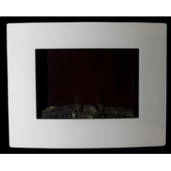 Casa Padrino LED Elektro Wand Kamin Weiss - Elektrokamin - Wohnzimmer Kamin