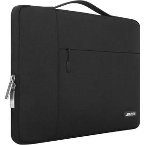 MOSISO Laptop Aktentasche Kompatibel mit 11,6-12,3 Zoll Acer Chromebook R11/HP Stream/Samsung/Lenovo/ASUS/MacBook Air 11, Ultrabook, Polyester Multifunktion Sleeve Hülle, Schwarz
