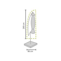 PEREL Sonnenschirm-Schutzhülle (1-St), Abdeckung Schutz-Hülle Ampel-Schirm Abdeck-Haube bis Ø 350cm Garten-Möbel