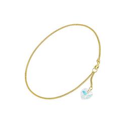 trendor Fußkette Fußkette mit Kristallherz Gold 333 / 8K