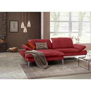 W.SCHILLIG Ecksofa enjoy&MORE, mit Sitztiefenverstellung, Füße silber matt, Breite 294 cm rot