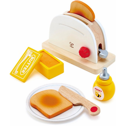 Hape Kinder-Toaster Pop-Up-Toaster-Set, 7-tlg., (Set, 7-tlg), aus Holz