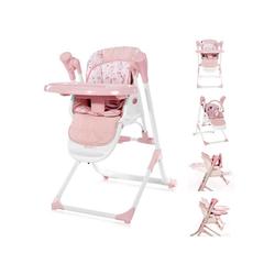 Lorelli Hochstuhl Kinderhochstuhl, Babywippe Ventura 2 in 1, ab Geburt, Musik, verstellbar rosa