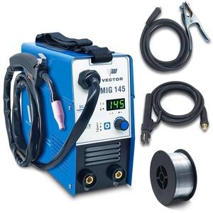 Mig Fülldraht Schweißgerät ohne Gas - Kombi WIG MIG und Eletrodenschweißgerät mit Fülldraht Rolle 1 Kg - von Vector Welding