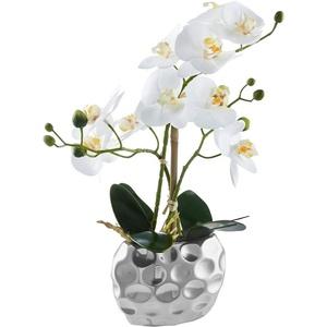 Kunstorchidee Orchidee weiß