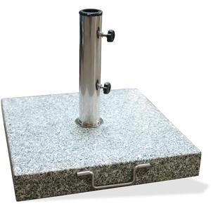 Sonnenschirmständer Schirmständer eckig 45cm Granit grau