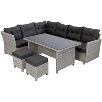 Greemotion Toscana Lounge-Set 4-tlg. grau-bicolor