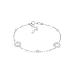 Elli Elli Armband Kristalle Kreise Vintage 925 Silber