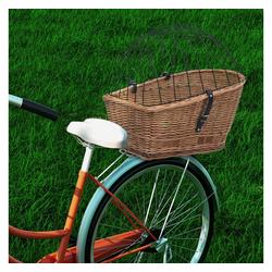 vidaXL Fahrrad-Gepäckträger vidaXL Fahrrad-Gepäckträgerkorb mit Abdeckung 55×31×36 cm Naturweide