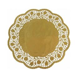 Deko-Tortenspitzen rund gold Ø 32 cm, 4 Stk.