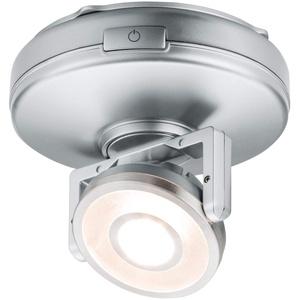 Paulmann 70637 Schrankleuchte LED Rotate für Arbeitsflächen, Schränke, Regale 1er-Spot schwenkbar dimmbar batteriebetrieben mit Schalter An/Aus/Dimmen
