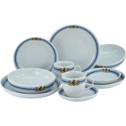 CreaTable Kombiservice Love Bavaria, (Set, 10 tlg.), für die bayrische Küche und Lifestyle weiß Geschirr-Sets Geschirr, Porzellan Tischaccessoires Haushaltswaren