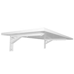 KDR Produktgestaltung Klapptisch Wandklapptisch Wandtisch Klapptisch Küchentisch Schreibtisch Büro Homeoffice, Weiß weiß