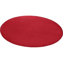 Teppich Fancy, HANSE Home, rund, Höhe 7 mm, Kurzflor, gekettelt rot Ø 200 cm x 7 mm
