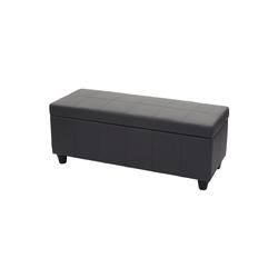 MCW Truhe Kriens, Mit praktischem aufklappbaren Deckel, Gepolsterte Sitzfläche, Integriertes Aufbewahrungsfach grau