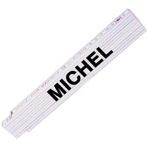 Zollstock mit Namen Michel für Männer | Hochwertiges Marken-Metermaß | Glieder-Maßstab mit Namen bedruckt | Viele Namen zur Auswahl