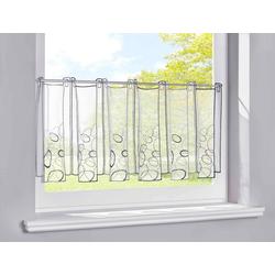 Scheibengardine, Gardinenbox, Stangendurchzug (1 Stück), Stickerei Transparent Bitrogardine Küchenfenster Sichtschutz