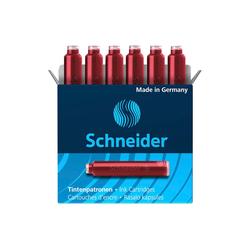 6 Schneider Tintenpatronen 6602 für Füller, rot