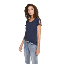 Shirt mit Cutouts blau 38