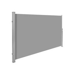 tectake Seitenarmmarkise Aluminium Seitenmarkise grau 180.0 cm