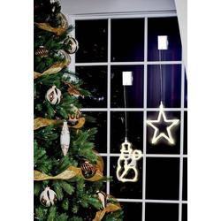 Polarlite LBA-50-009 LED-Fensterbild Schneemann LED Transparent