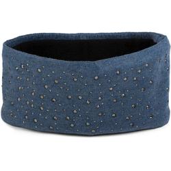 styleBREAKER Stirnband Feinstrick Stirnband mit Strass Feinstrick Stirnband mit Strass blau
