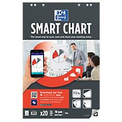OXFORD Flipchart-Papier Smart Chart Euro 90 g/m² Blanko 65 x 98 cm 3 Stück à 20 Blatt