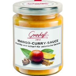 Grashoff Mango-Curry-Sauce, fruchtig-scharf, 200 ml, 3er Pack (3 x 200 ml)