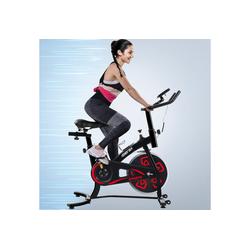 Merax Speedbike, Heimtrainer Fahrrad, Indoor Cycle, mit LCD-Konsole rot