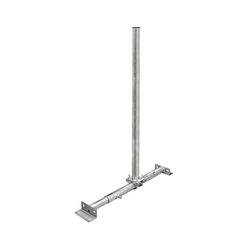 PremiumX BASIC X100-48F SAT TV Teleskop-Dachsparrenhalter 100 cm Mast 48 mm Stahl voll feuerverzinkt Dach-Sparren-Halterung für Satelliten-Antenne Satellitenschüssel SAT-Halterung