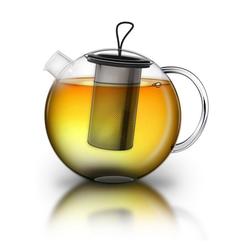 Creano Teekanne Jumbo, 1,5 l, Borosilikatglas, 1,5 Liter