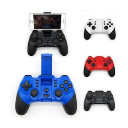 Wireless Bluetooth Game Controller for iPhone Android Tablet PC Gaming White