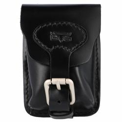 Mika Gürteltasche Leder 8,5 cm schwarz