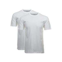 RAGMAN Unterhemd Herren T-Shirt 2er Pack - 1/2 Arm, Unterhemd, weiß 8XL