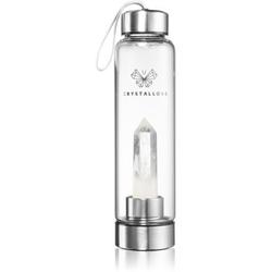 Crystallove Bottle Clear Quartz Wasserflasche 550 ml